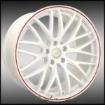 GTM White W/Red Stripe