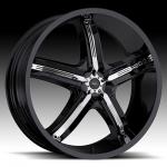 Bel Air 5  Black Chrome